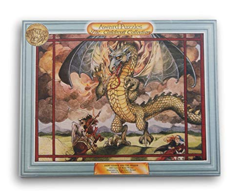 (Caldecott Framed 41 Piece Jigsaw Puzzle - Saint George and the Dragon - 14.75 Inch x 11.75 Inch)