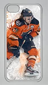 CLAUDE GIROUX PHILADELPHIA FLYERS Custom PC Transparent Case for iPhone 5C by icasepersonalized by mcsharks