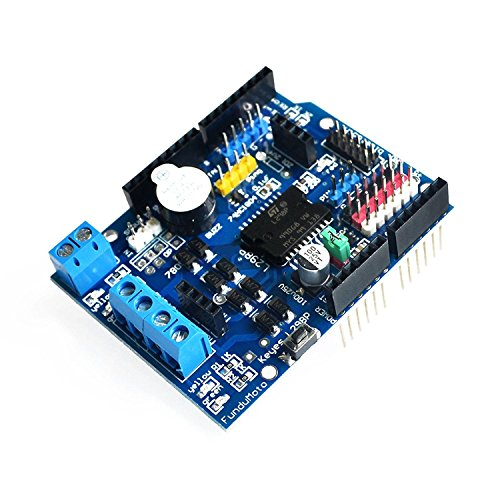 WINGONEER L298P Motor Driver Module H-bridge Drive Shield Expansion Board High-Power DC Stepper Motor Controller For ()
