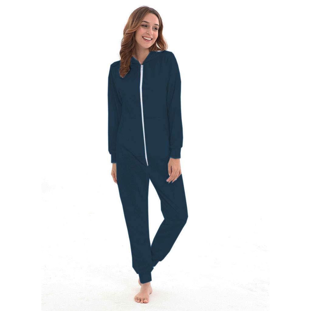 conqueror Sweat-Shirt Siamois à Capuche et à Manches Longues pour Femme Flanelle Grenouillères Adulte Unisex Pyjama Kiguruma Vêtement de Nuit