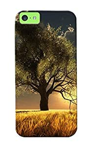 5c Scratch-proof Protection Case Cover For Iphone/ Hot Lone Tree In The Sunlight Phone Case