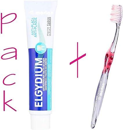 Elgydium PACK Pasta de Dientes Antiplaca, 75ml+ Cepillo Dental Adulto Inter-Active Medio, 1Ud: Amazon.es: Belleza