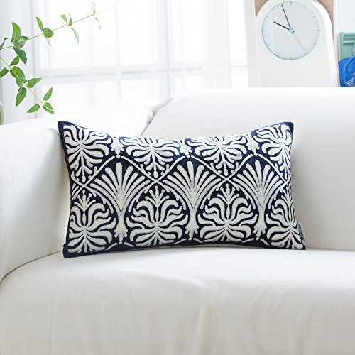 Hwy 50 Cotton Embroidered Decorative Rectangle Throw