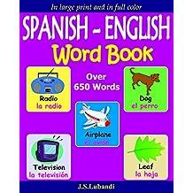 SPANISH - ENGLISH Word Book