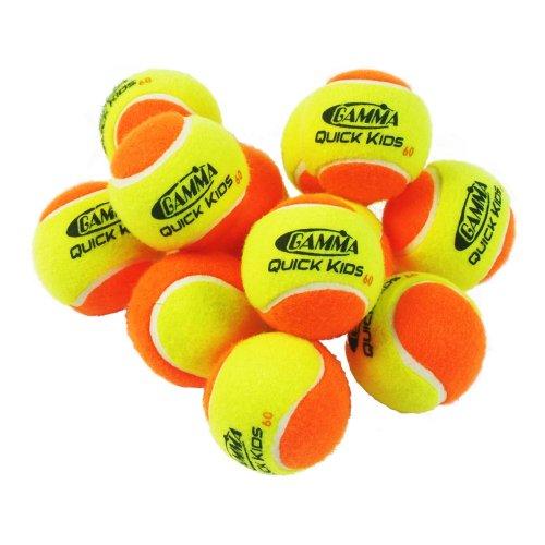 Gamma Quick Kids Tennis Balls - For 60 Foot Court (12 Pack)