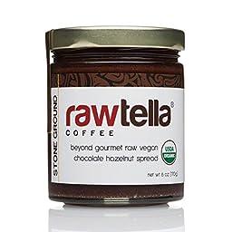 Rawtella - Gourmet Raw Chocolate Hazelnut Spread - COFFEE (01/6 oz Jar)