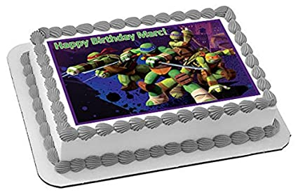 Teenage Mutant Ninja Turtles - Edible Cake Topper - 7.5