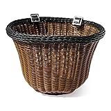 Colorbasket Front Handle Bar Adult Bike Basket, Water Resistant Leather Straps
