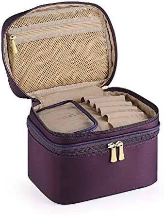 CHICECO Travel Makeup Train Case Toiletry Bag Cosmetic Bag – Double Layer
