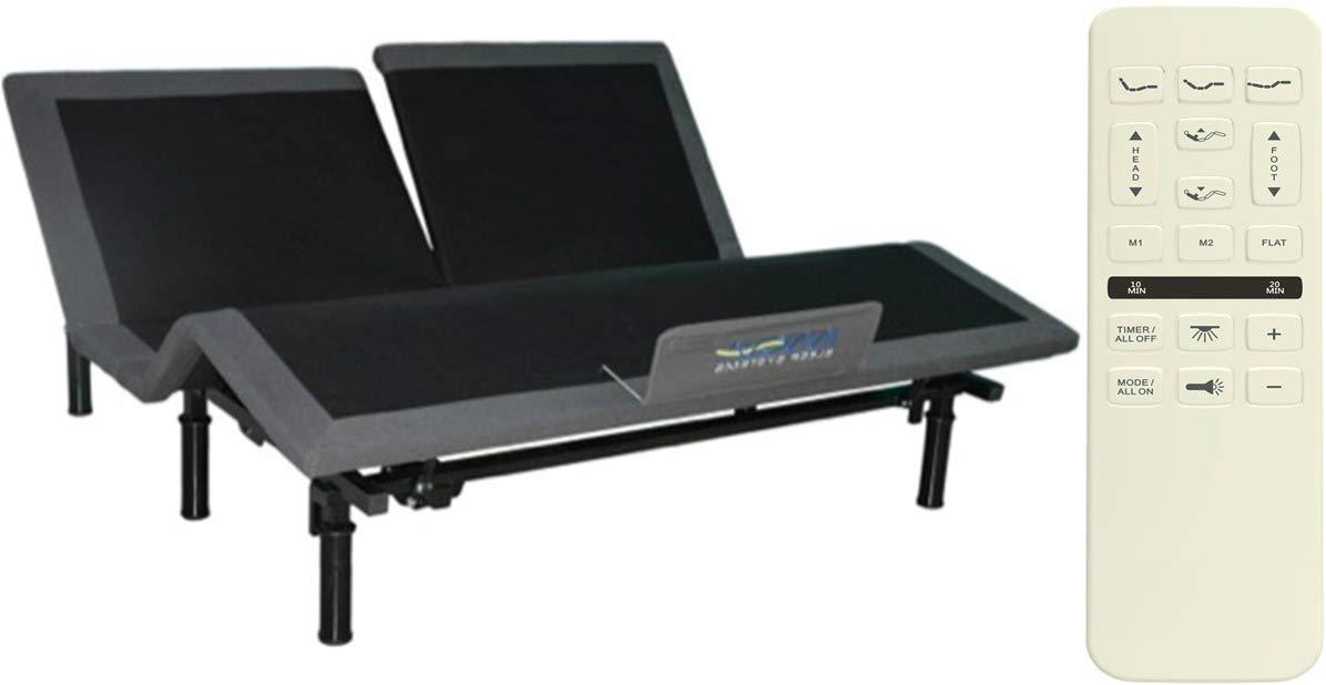 New Rooms Regent King Split Head Adjustable Bed for Flex Head,Split Head, or Flex top mattresses by New Rooms