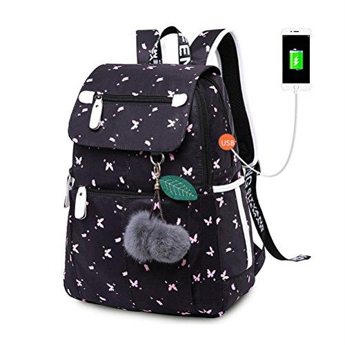 Kalakk School Bags For Teenage Girls Waterproof Usb Children's Backpack Child Laptop Bag by Kalakk