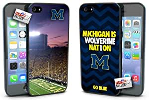 Michigan Wolverines Hard Case TWO PACK for iPhone 5/5s