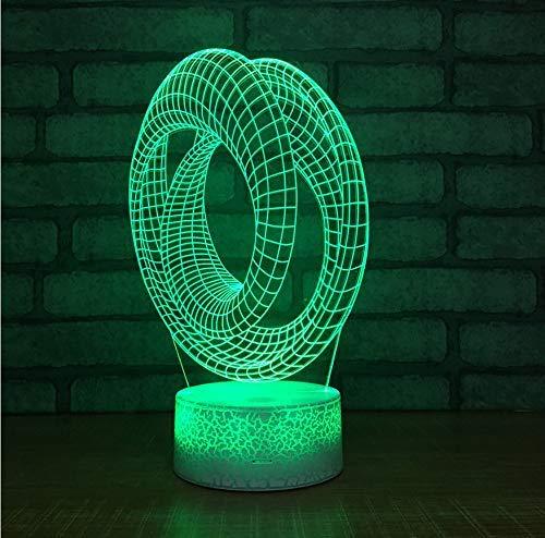Creative Table Lamp Desk Lamp 3D Acrylic Night Light Acryllicht-Nachtlicht-Kreative Tischplattenanzeige Des Ringes 3D Führte Kinderlampen-Bunte Dekorative Leuchten 3D Using for Reading, Working by OVIIVO (Image #3)