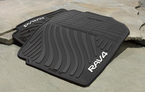 Genuine Toyota All-Weather Floor Mats for 2007-2012 Toyota Rav4-Set of 4, New, OEM, ()