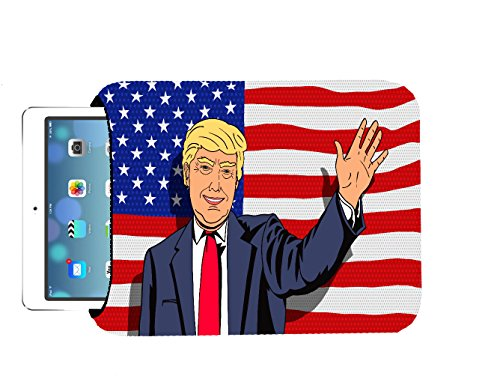 Trendy Accessories American Flag Caricature Cartoon President Caricature 10x8 inch Neoprene Tablet Sleeve Bag by for iPad, Kindle, Tab, Note, Air, Mini, Fire