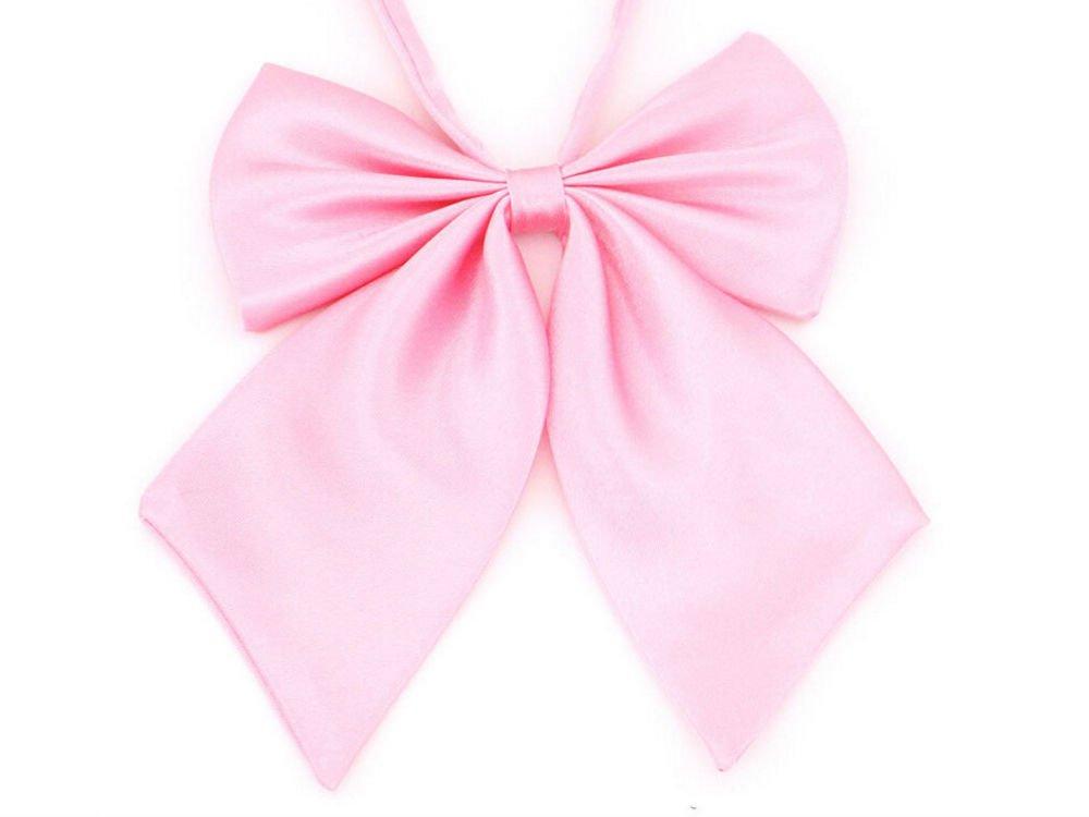 Pink Solid Color Pre-Tied Bow Tie