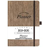 2019-2020 Academic Planner - Weekly & Monthly Planner with Tabs + Cork Smooth