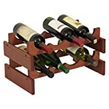 FixtureDisplays 8 Bottle Dakota Wine Rack 104501! For Sale