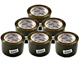 Uniware Large Professional Packing Tape, 2.8-Inch Wide x 110 Yard(3960 Inch) Long, Brown (6 Pack)