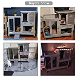 Rabbit Hutch Bunny Hutch Large Rabbit Cage, Indoor