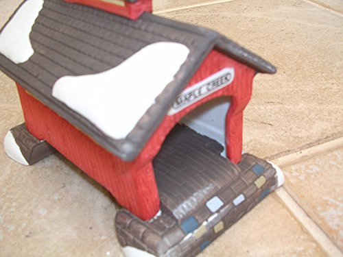 Department 56 Heritage Village Collection ; New England Red Covered Bridge 1988 ; Handpainted Porcelain Accessories #5987-0
