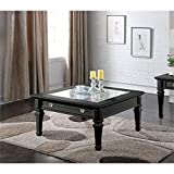 Glass Top Coffee Table with Drawers ACME Adalyn Black Coffee Table with Display Glass Top
