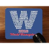2016 Champions Cubs Desktop Office Silicone Mouse Pad by Debbie's Designs