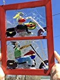 Motorcycle Biker couple gift Stained glass Window Art Suncatcher, one of a kind