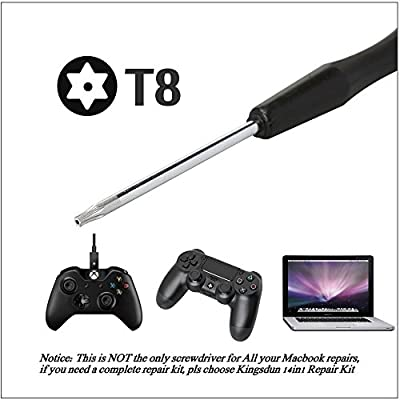 Kingsdun T8 T8H Torx Screwdriver, Security Screwdriver Set for Xbox One,Xbox 360 Controller,PS3, PS4 and Macbook Repair: Home Improvement