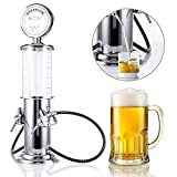 gas pump alcohol dispenser - YESIDO Gas Station Style Liquor Decanter for Beer Mini Bar Accessories 35 OZ Liquid Drinking Separate Tools Alcohol Dispenser Wine Pump Machine (Double Spouts)