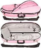 Bobelock 1047FV Pink Fiberglass 4/4 Violin Case with Silver Velvet Interior and Protective Bag