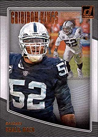 994f82183c9 2018 Donruss Gridiron Kings Football Card  29 Khalil Mack NM-MT Oakland  Raiders Official
