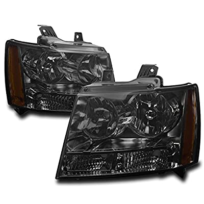 ZMAUTOPARTS For Chevy Suburban/Tahoe/Avalanche Crystal Style Headlights Smoke: Automotive