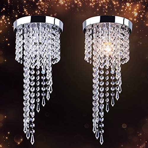 Details about Mini Crystal Chandelier Lighting H20.9x5.9inche Modern Flush Mount Ceiling Light