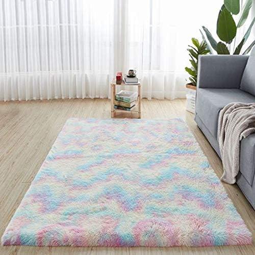 Plush-Fluffy-Rugs 5x8 Feet - Rainbow Soft-Rugs Room/Bedroom for Girls (Rainbow5 x 8 Feet)