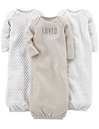Simple Joys by Carter's unisex-baby 3-pack Cotton Sleeper Gown Nightgown