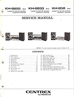 centrex kh 8855 kh 8833 kh 858 ku cassette am fm stereo compact switched outlet wiring diagram centrex kh 8855 kh 8833 kh 858 ku cassette am fm stereo compact system service manual, parts list, schematic wiring diagram centrex,
