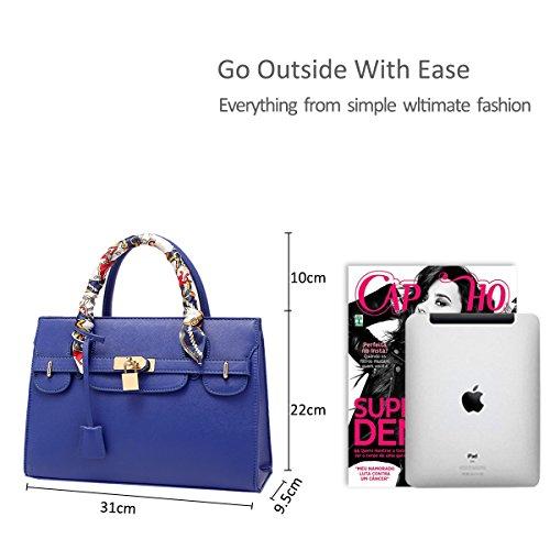 NICOLE&DORIS paquete del bolso del platino modelo cruzado de El nuevo bolso del bolso grande del hombro Blue