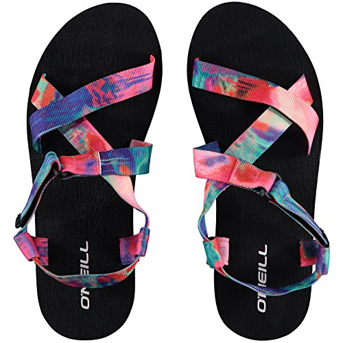 Womens O'Neill Out Sandals Ladies Black Wedge Touch Fasten ZxqOzxp