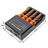 Wyness Four Channels Smart Batteries Charger For Li-ion, IMR, LiFePO4 18650 26650 22650 17670 18490 17500 18350 16340 14500 10440 14430-600 16340-550 Rechargeable Batteries(Include 4x18650 Batteries)
