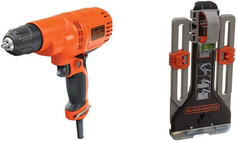 BLACK+DECKER Corded Drill with MarkIT Picture Hanging Tool Kit (DR260C & BDMKIT101C)