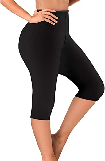 Women Pants Neoprene Exercise Leggings Sauna Thighs Fat Burner Hot Sweat Thermo Slimming Capri Workout