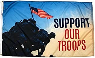product image for 3' x 5' Nylon Support Our Troops Iwo Jima Flag, Made in The USA