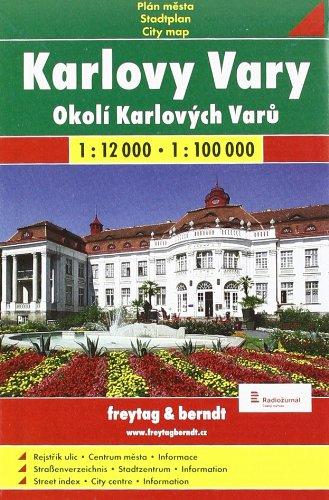 Karlovy Vary  1 : 12 000 / Okoli Karlovych Varu 1 : 100 000: Shocart Stadtplan