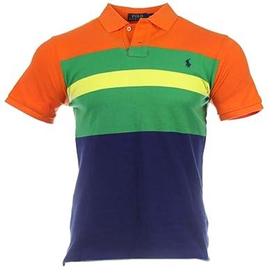 Ralph Lauren - Polo - Rayas - para Hombre Naranja: Amazon.es: Ropa ...