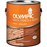 OLYMPIC/PPG ARCHITECTURAL FIN 58804A/01 Cedar Semi-Transparent Exterior Deck Fence & Siding Stain