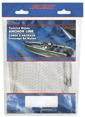 SeaSense Twisted Nylon with Thimble, 5/16-Inch X 75-Foot (Seasense Anchor Rope)