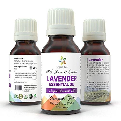 UPC 731236219422, Organic Lavender Oil - 15ml. Aromatherapy Essential Oil. USDA Certified Organic. 100% Pure, Original and All Natural. Ayurveda Grade.