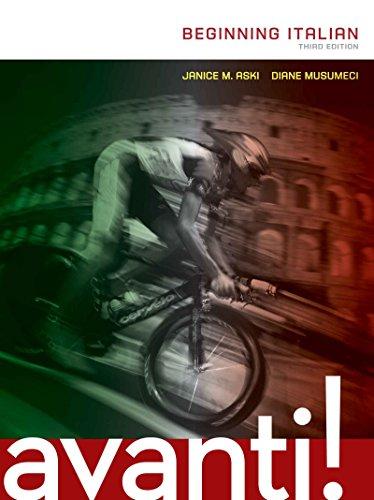 AVANTI: BEGINNING ITALIAN, 3rd edition Pdf