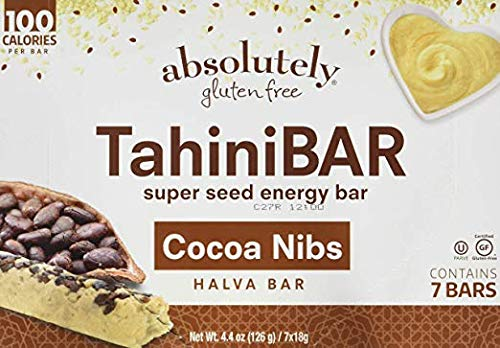 Absolutely Gluten Free Bar Tahini Cocoa Nibs 4.4 OZ (Pack of 2)